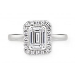 Silver Emerald Cut Ring