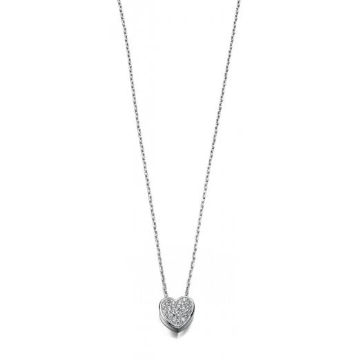 Silver Jewellery CZ PAVE HEART SLIDER