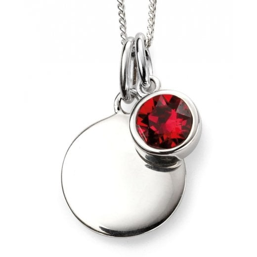 Silver Jewellery Silver July Birthstone + Disc