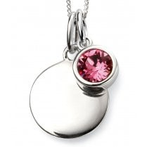 Silver Oct Birthstone + Disc