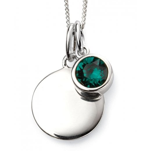 Silver May Birthstone + Disc