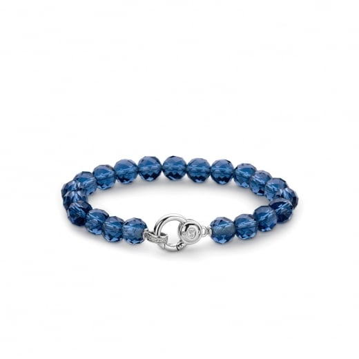 Ti-Sento Dark Blue Beaded Bracelet