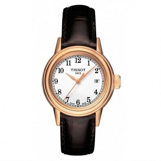 Tissot Ladies Gold Tone Leather Strap