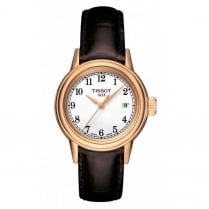 Ladies Gold Tone Leather Strap