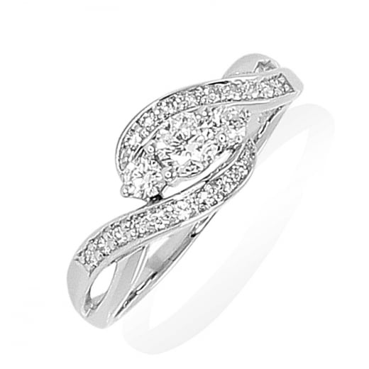 Trilogy Twist Diamond Ring