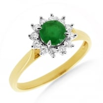 'Victoria' Emerald & Diamond R