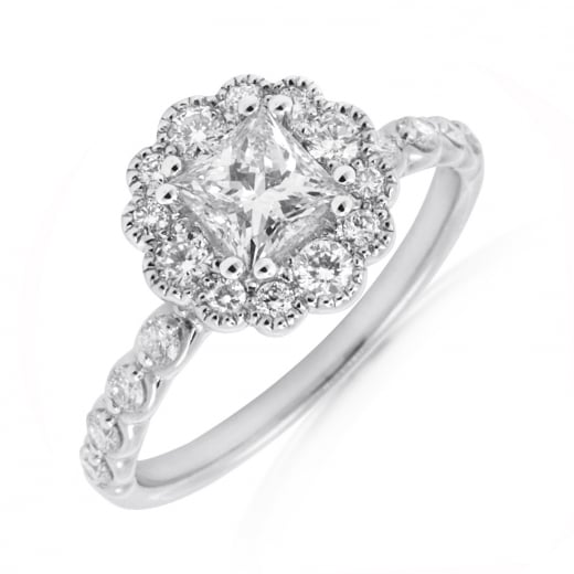'Vintage' Cluster Diamond Ring