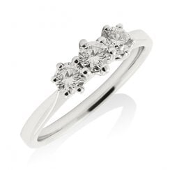 'Vintage' Trilogy Diamond Ring